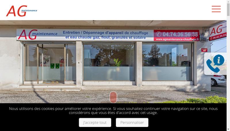 Capture d'écran du site de Ag Maintenance