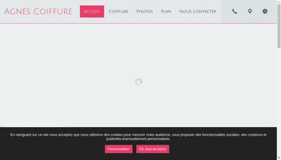 Capture d'écran du site de Agnes Coiffure