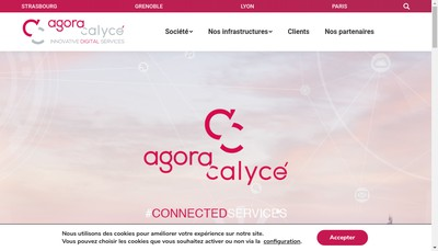 Site internet de Agora Calyce