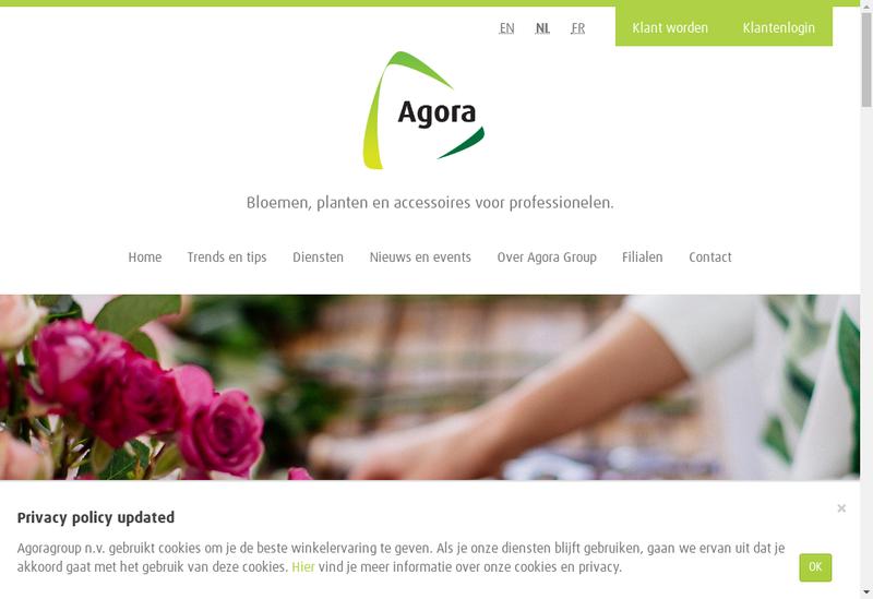 Capture d'écran du site de Floris