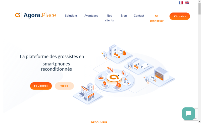 Capture d'écran du site de Agora Place