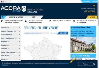 Site internet de Agorastore