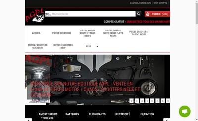 Site internet de Pieces Moto Agpl