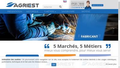 Site internet de Agriest