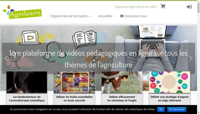 Capture d'écran du site de Sarl Agri-Learn Editions