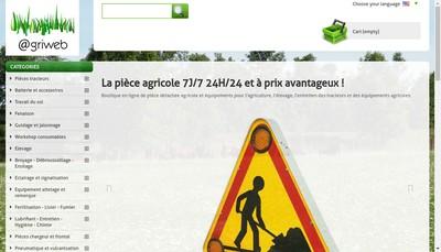 Site internet de Agriweb