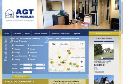 Site internet de AGT Immobilier