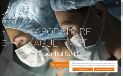 Site internet de Aguettant Biotech