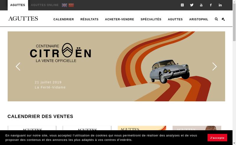 Capture d'écran du site de Claude Aguttes SAS