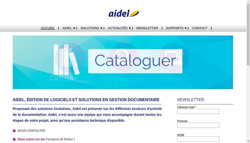 Capture d'écran du site de Aidel