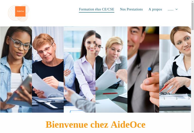 Capture d'écran du site de Aide O Ce