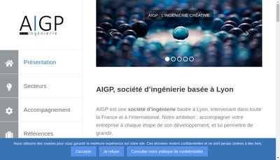 Site internet de AIGP Ingenierie