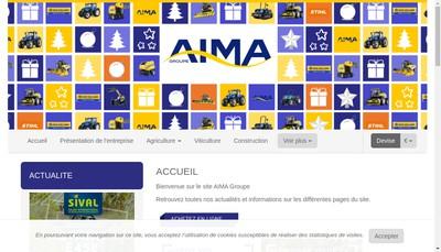 Site internet de Aima Groupe