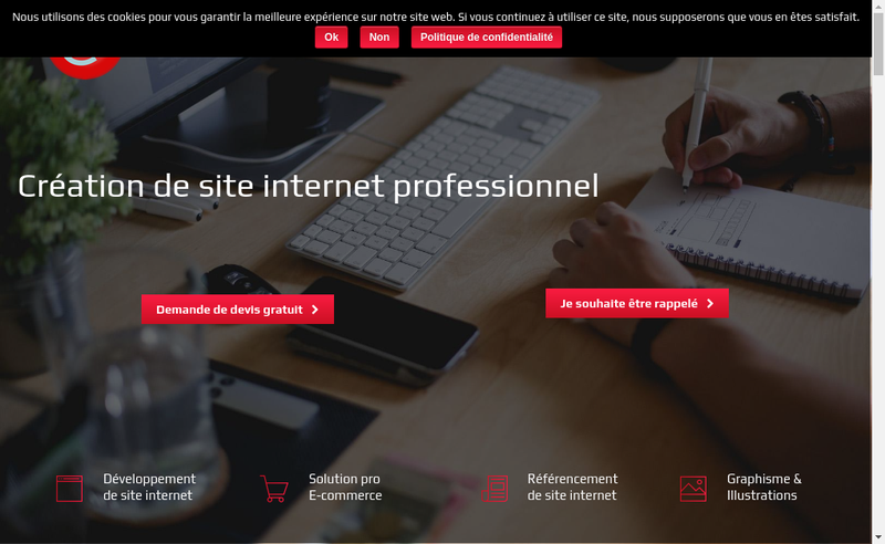 Capture d'écran du site de Ainsite Net