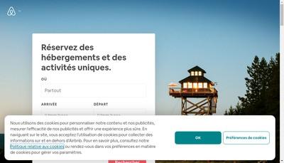 Site internet de Airbnb France
