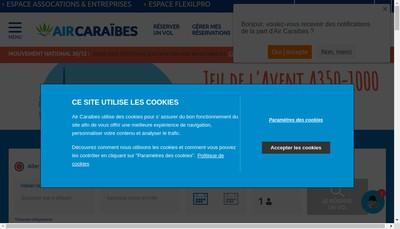 Site internet de Air Caraibes Charter Air Gpe Air Mart