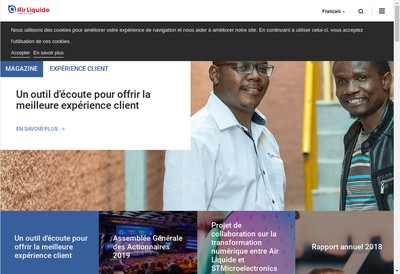 Site internet de Air Liquide Cryogenic Services