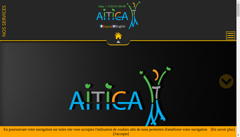 Capture d'écran du site de Aitica