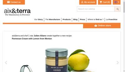 Site internet de Aix & Terra