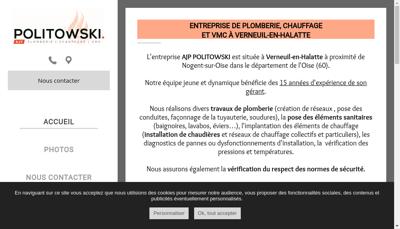 Capture d'écran du site de Ajp Politowski