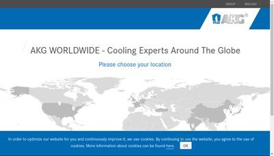 Site internet de Akg France
