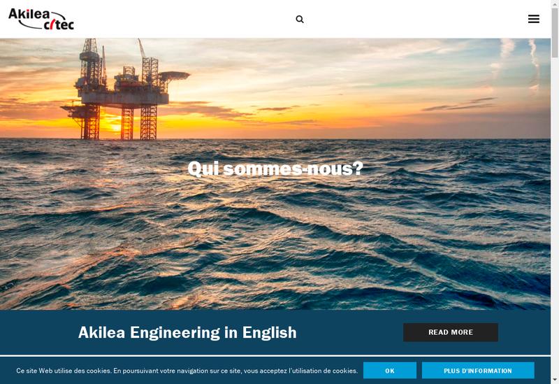 Capture d'écran du site de Akilea Engineering