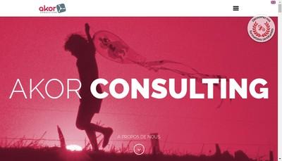 Site internet de Akor Consulting