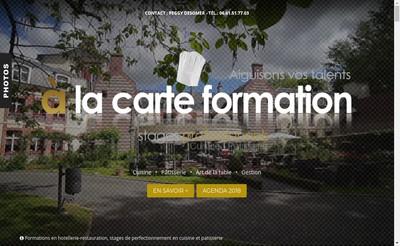 Site internet de A la Carte Formation