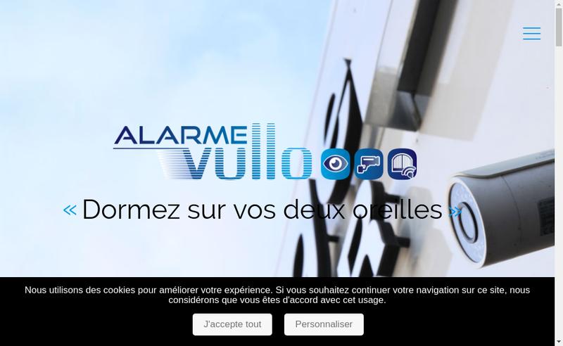 Capture d'écran du site de Alarme Vullo