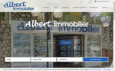 Site internet de Albert Immobilier