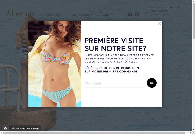 Capture d'écran du site de Albertine