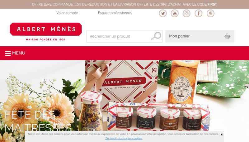 Capture d'écran du site de Albert Menes