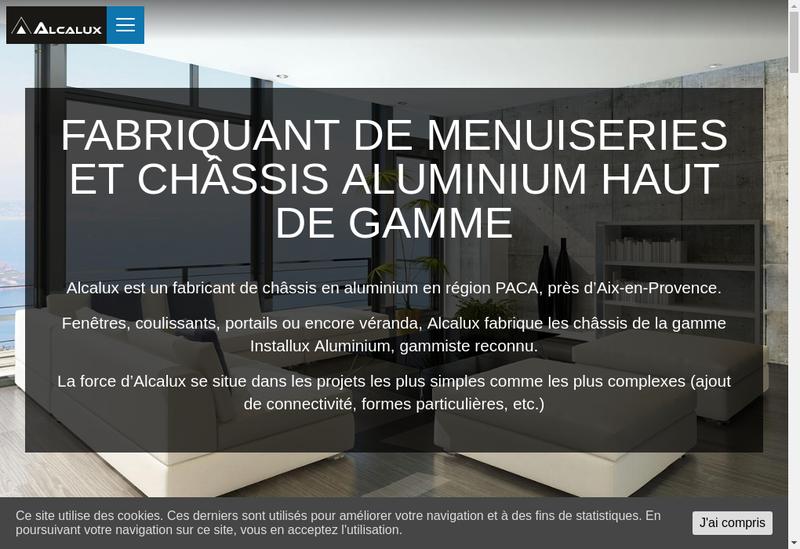 Capture d'écran du site de Alcalux