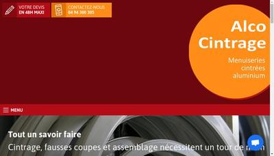 Site internet de Alco Cintrage