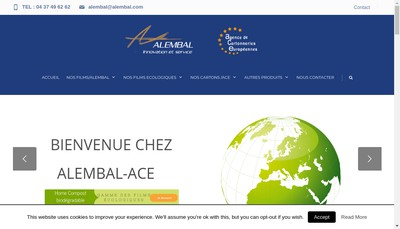Site internet de Alembal