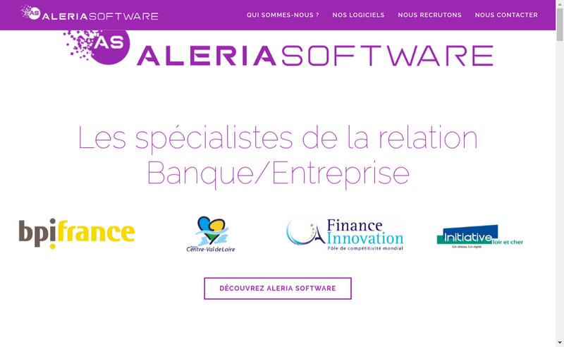 Capture d'écran du site de Aleria Software