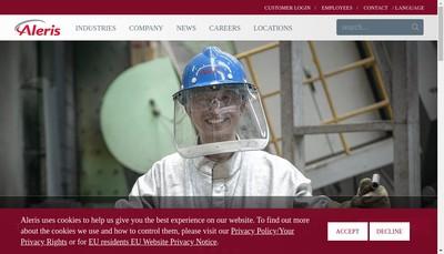 Site internet de Aleris Aluminum France