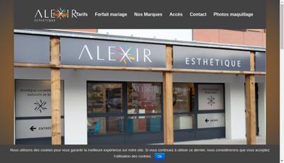 Capture d'écran du site de Alexir Esthetique