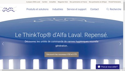 Site internet de Alfa Laval Spiral