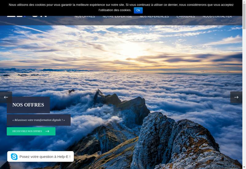 Capture d'écran du site de Alfun