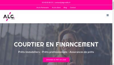 Site internet de Alg Credits