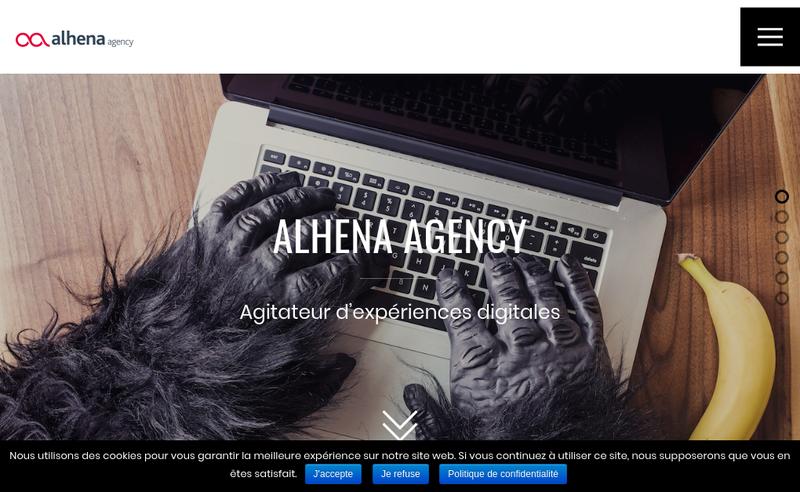 Capture d'écran du site de Alhena
