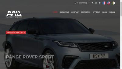 Site internet de Aliance Motors
