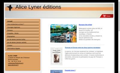 Site internet de Alice Lyner Editions