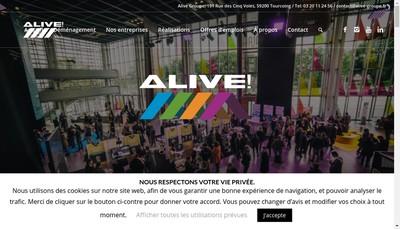 Site internet de Alive Groupe