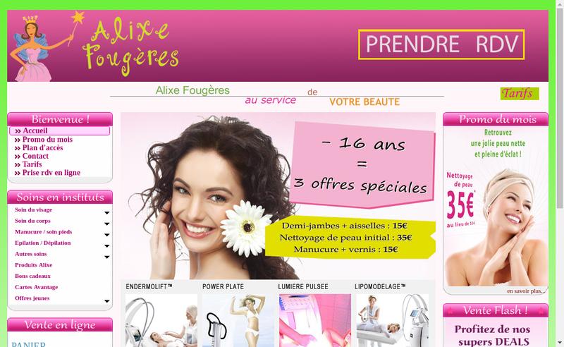 Capture d'écran du site de Cade