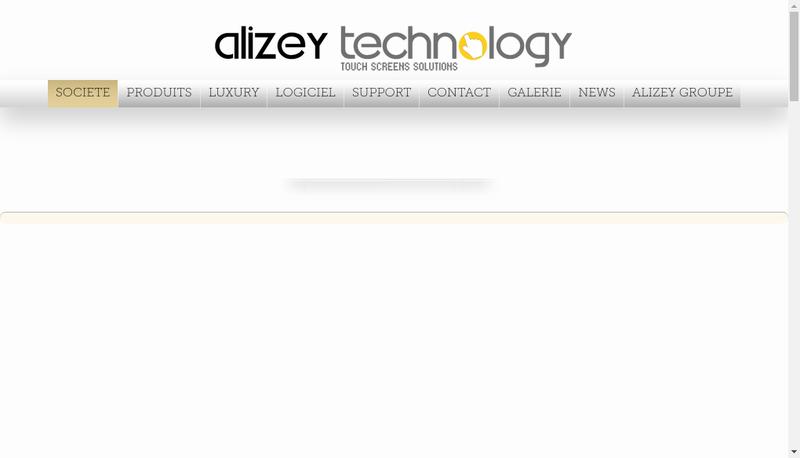 Capture d'écran du site de Alizey Technology