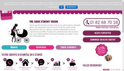 Site internet de All4Home Nantes