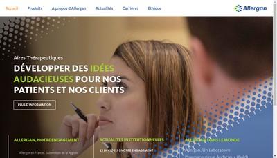 Site internet de Allergan France