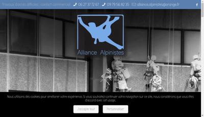 Capture d'écran du site de Alliance Alpinistes